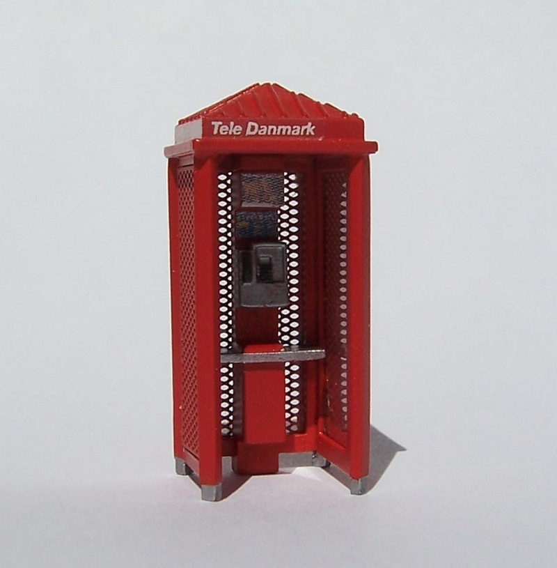 telefonboks Danscale Utzon 1:87 model